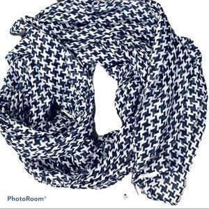 NWT H & M Scarf Black & White Checkered FREE W/$35